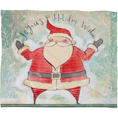 Donmoyer Joyous Holiday Wishes Fleece Polyester Throw Blanket Size: 60 L x 50 W