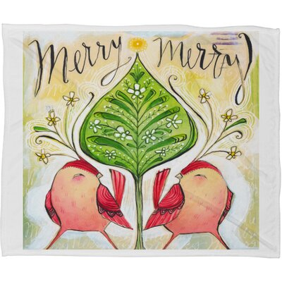 Donmoyer Merry Merry Fleece Throw Blanket Size: 80 L x 60 W
