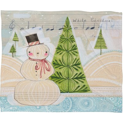 Donmoyer Let It Snow Christmas Fleece Polyester Throw Blanket Size: 80 L x 60 W