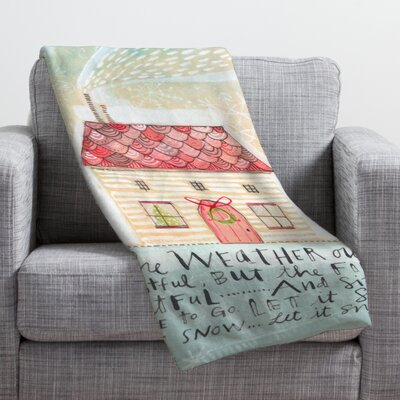 Donmoyer Let It Snow Fleece Polyester Throw Blanket Size: 80 L x 60 W