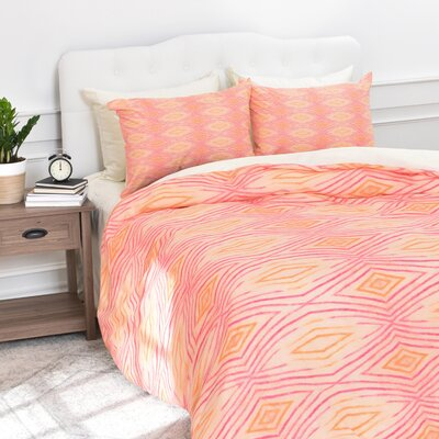 Donmoyer Ikat Duvet Cover Set Size: King