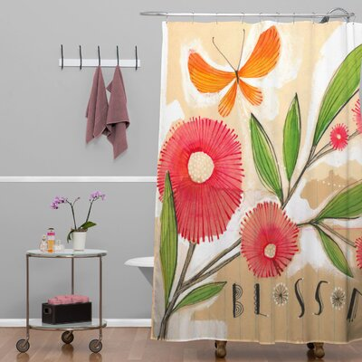 Donmoyer Blossom 1 Quatrefoil Clock Shower Curtain