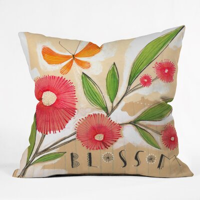 Donmoyer Blossom 1 Quatrefoil Clock Throw Pillow Size: Extra Large