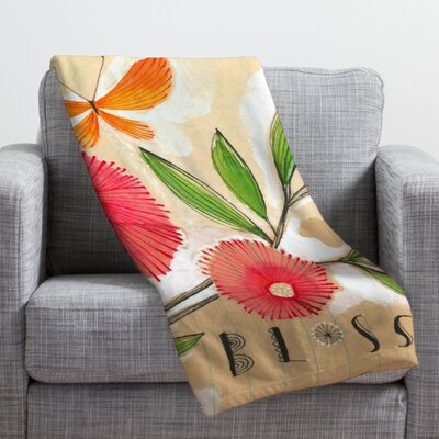 Donmoyer Blossom 1 Throw Blanket Size: 80 H x 60 W