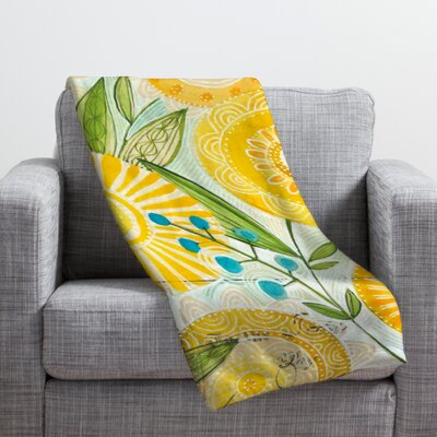 Donmoyer Sun Burst Flowers Throw Blanket Size: 40 H x 30 W