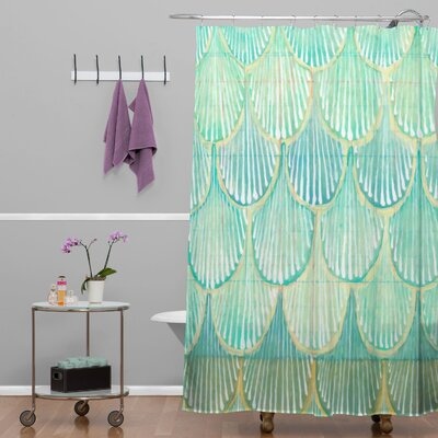 Donmoyer Dantini Scallops Shower Curtain