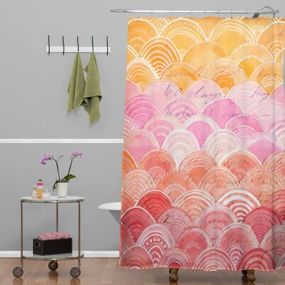 Donmoyer Spectrum Warm Rainbow Shower Curtain