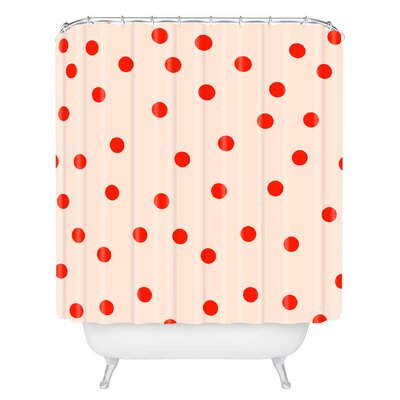 Catron Vintage Dots Shower Curtain
