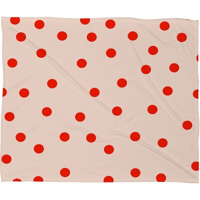 Buckelew Vintage Dots Plush Fleece Throw Blanket Size: Small