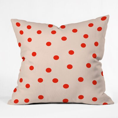 Calle Vintage Dots Throw Pillow Size: Large