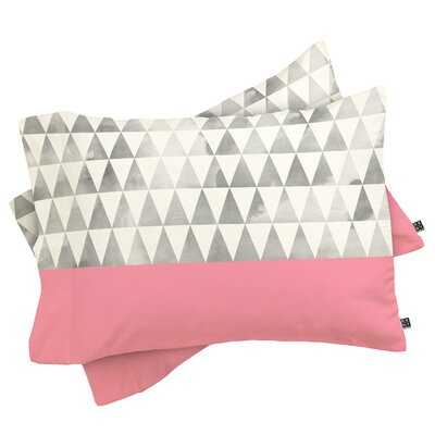Etter Triangles Pillowcase Size: King