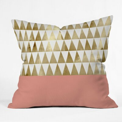 Candelario Triangles Outdoor Throw Pillow Size: 16 H x 16 W x 4 D
