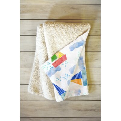 Diez Ahoy Hoy Fleece Throw Blanket Size: 60 L x 50 W
