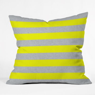 Boyles Bright Stripe Indoor/Outdoor Throw Pillow Size: Large