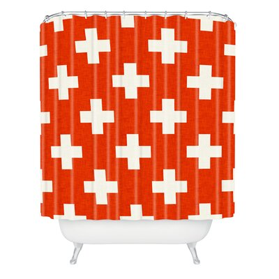 Couture Vermillion Plus Shower Curtain