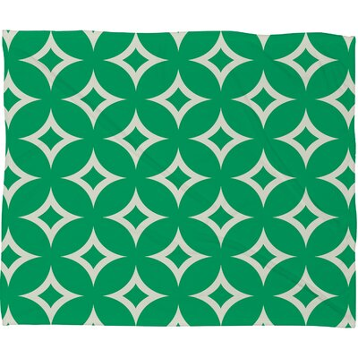 Chen Emerald Diamonds Plush Fleece Throw Blanket Size: Large