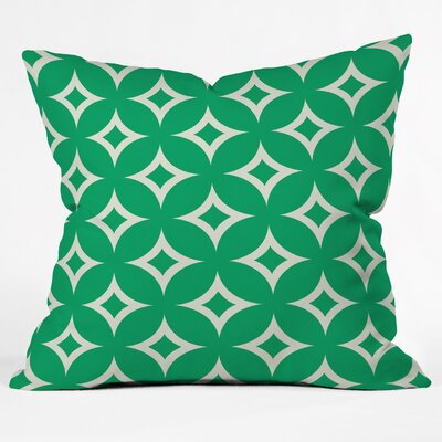 Bever Emerald Diamonds Throw Pillow Size: Large