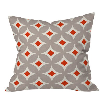 Buzbee Vermillion Diamond Throw Pillow Size: Medium