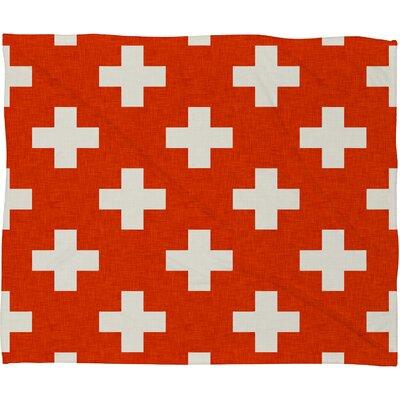 Alley Vermillion Plus Plush Fleece Throw Blanket Size: Large