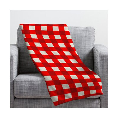 Belle Gingham Plush Fleece Throw Blanket