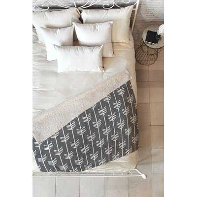 Flemings Arrows Fleece Throw Blanket Size: 80 L x 60 W