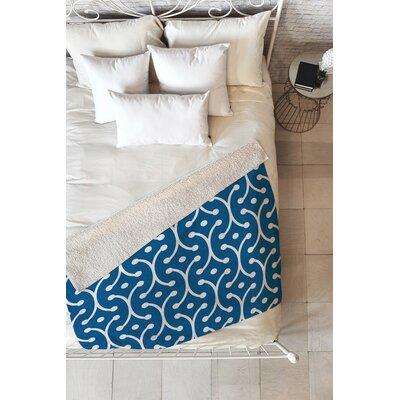 Flemings Denim Picket Fleece Throw Blanket Size: 60 L x 50 W