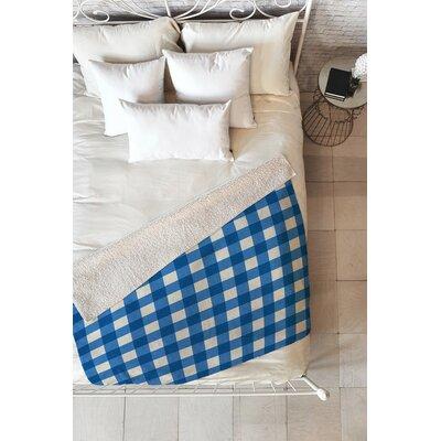 Flemings Gingham Fleece Throw Blanket Size: 60 L x 50 W