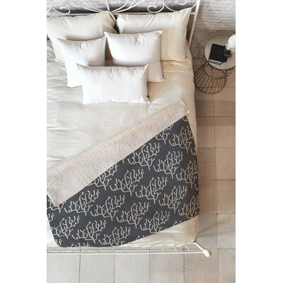 Flemings Coral Fleece Throw Blanket Size: 60