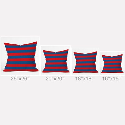 Flemings Rugby Stripe Outdoor Throw Pillow Size: 16 H x 16 W x 4 D, Color: Rugby