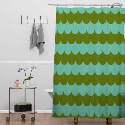 Brunner Waves of Color Shower Curtain