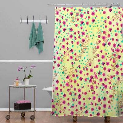 Alling Wind Swept Floral Shower Curtain