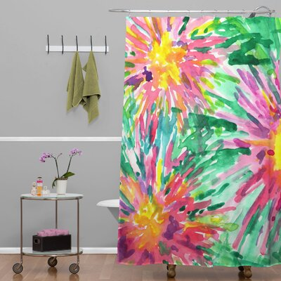 Amick Confetti Floral Shower Curtain