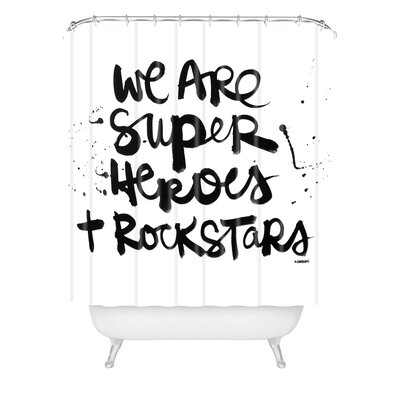 Comerford Superheroes Extra Long Shower Curtain