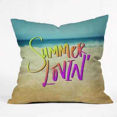 Barto Summer Lovin Beach Indoor/Outdoor Throw Pillow Size: Large
