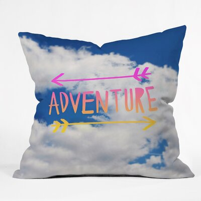 Dineen Adventure Sky Throw Pillow Size: 20 H x 20 W x 6 D