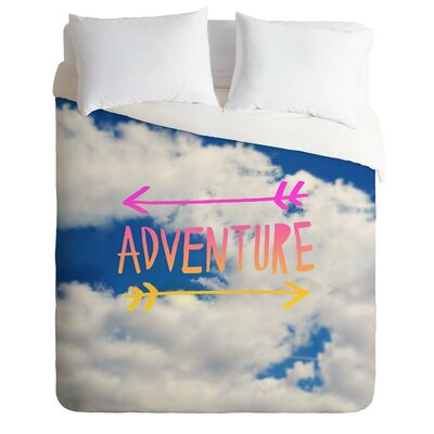 Aranda Adventure Sky Lightweight Duvet Cover Size: King