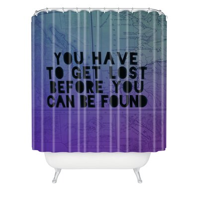 Borrego Lost x Found Polyester Shower Curtain