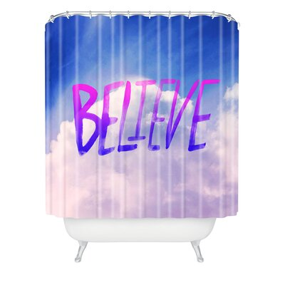Fenley Believe x Clouds Polyester Shower Curtain