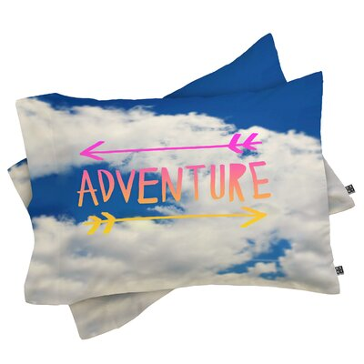 Connell Adventure Sky Pillowcase Size: King