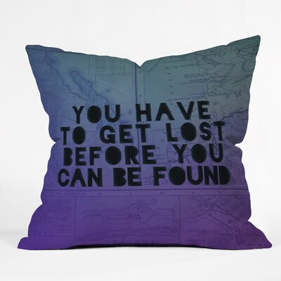 Danaher Lost x Found Throw Pillow Size: 16 H x 16 W x 4 D