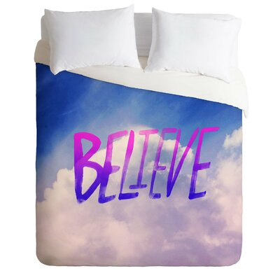 Finkelstein Believe x Clouds Lightweight Duvet Cover Size: Queen