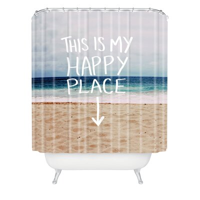 Ballweg Happy Place X Beach Extra Long Shower Curtain