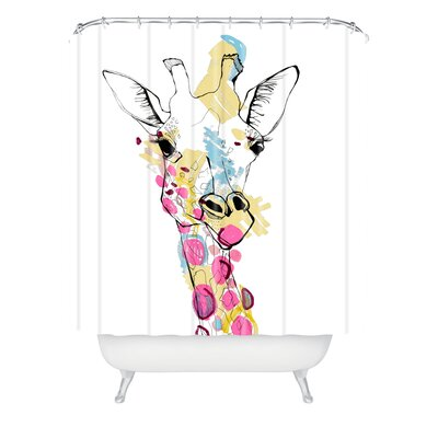 Baughman Giraffe Color Shower Curtain