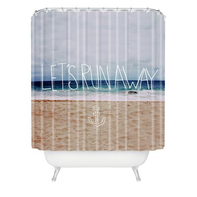 Burling Lets Run Away III Shower Curtain