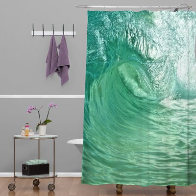 Brassell Woven Polyester Within The Eye Extra Long Shower Curtain