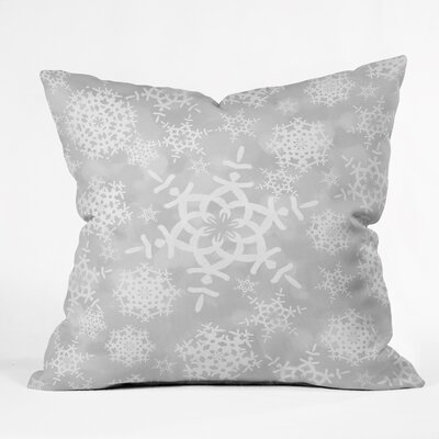 Cruce Snow Flurries Throw Pillow Size: Extra Large, Color: Gray