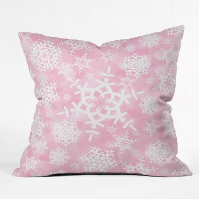 Cruce Snow Flurries Throw Pillow Size: Extra Large, Color: Pink