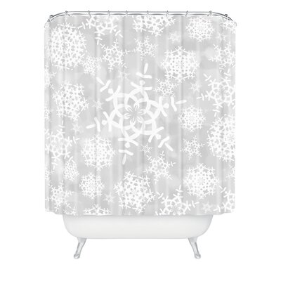 Clausen Snow Flurries Shower Curtain Color: Gray