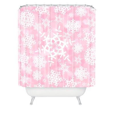 Clausen Snow Flurries Shower Curtain Color: Pink