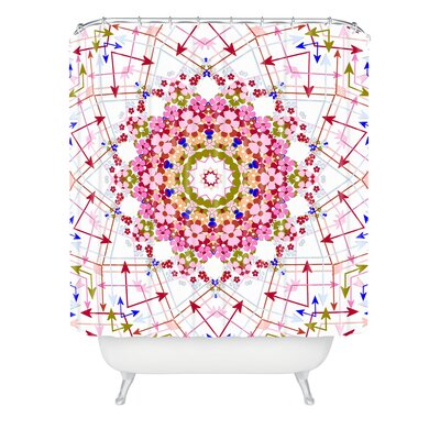 Delariva Every Which Way Polyester Shower Curtain